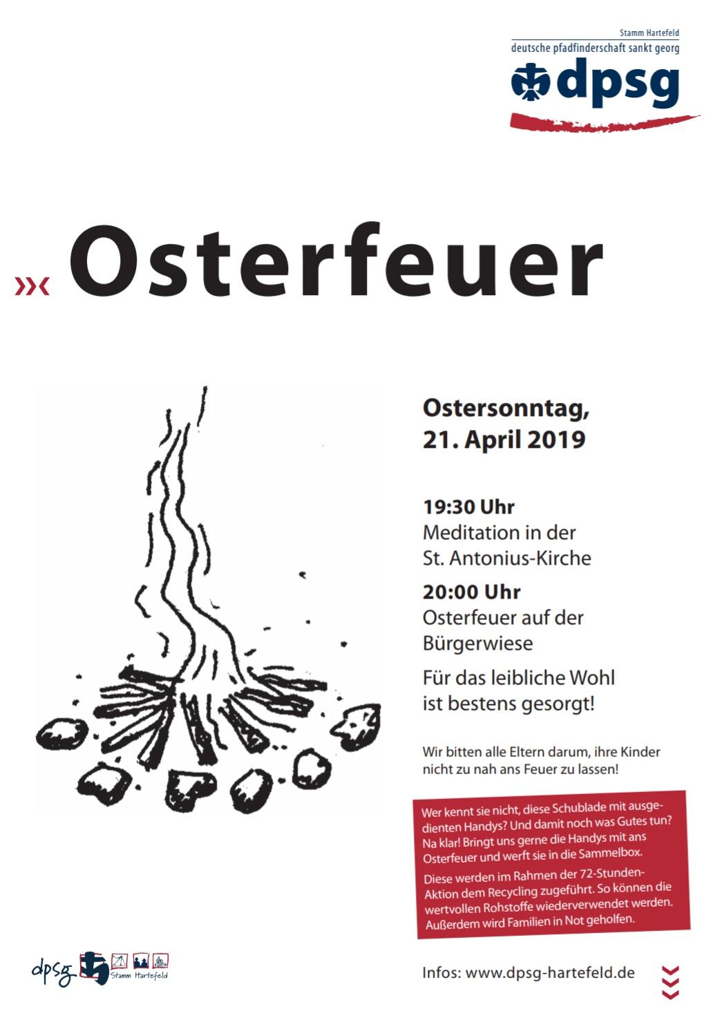 Osterfeuer 2019 Hartefeld